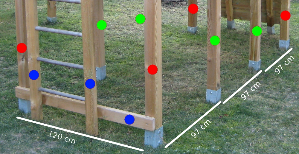 Gartenmobel Holz Bunt : Bauanleitung für ein Klettergerüst mit Wackelbrücke