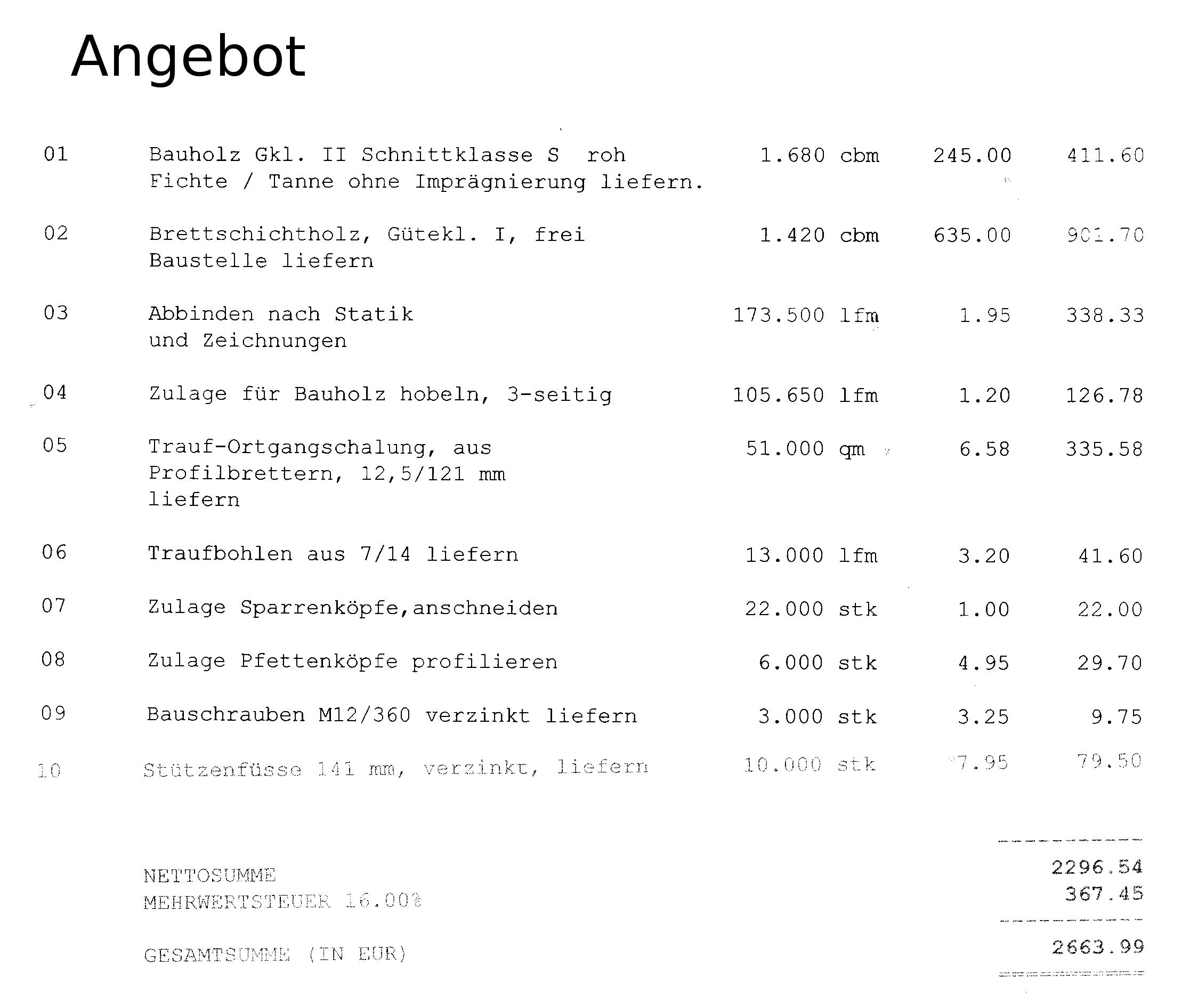 302 found for Carport angebot