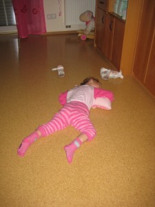 ich schlafe auf dem Fussboden