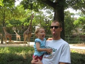 vor den giraffen
